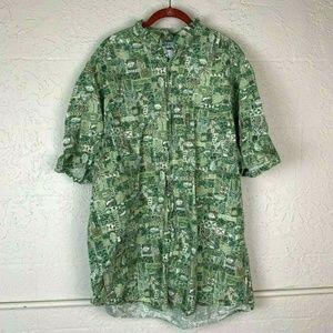 Columbia Shirt Men Size XLT Tall Button Up Top